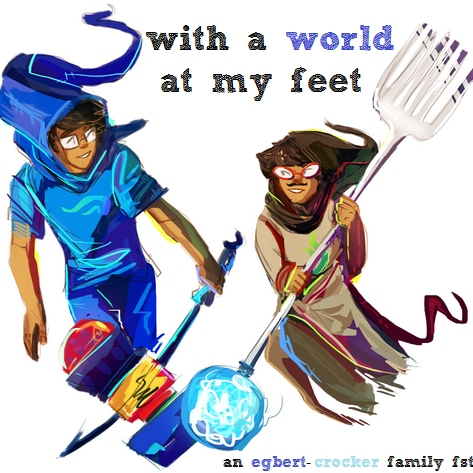 with a world at my feet