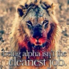 BE AN ALPHA