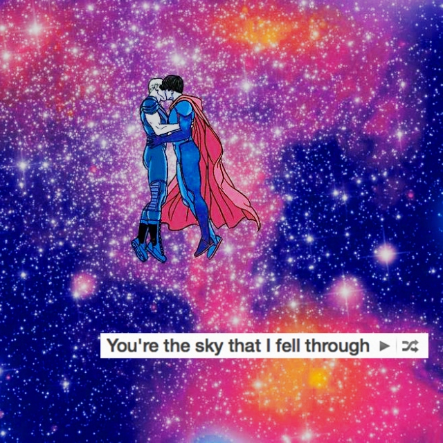 you're the sky that i fell through