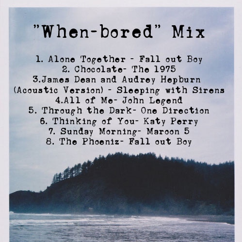"""""""When-bored"""" Mix"""