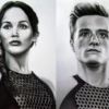 Katniss and Peeta, the star crossed lovers.
