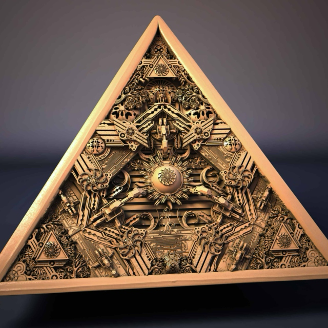 Image result for pyramid artifact art
