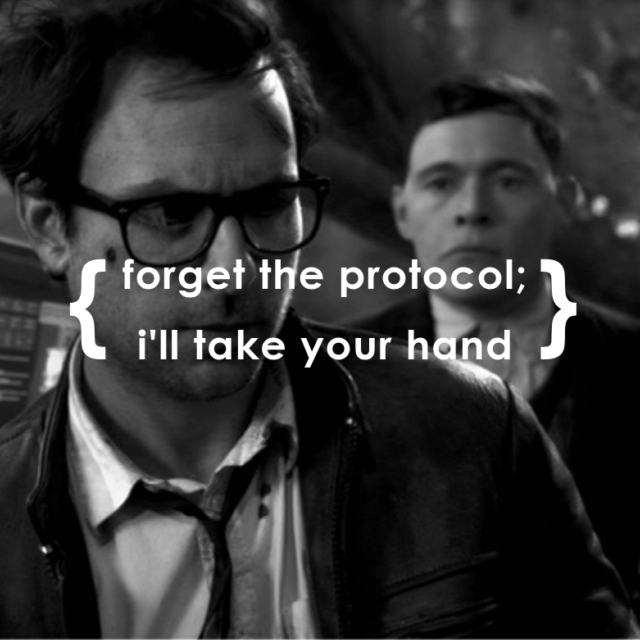 forget the protocol; i'll take your hand