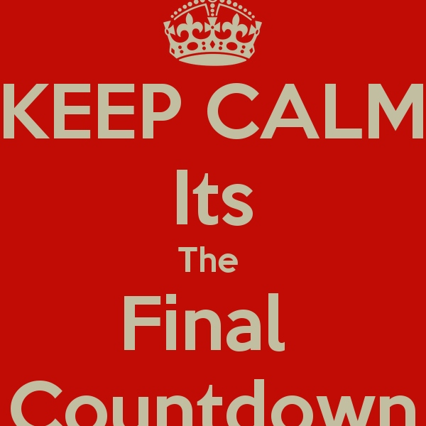 keep calm it's final week