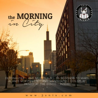 the morning in city