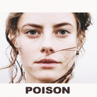 poison in her eyes; acid on her lips