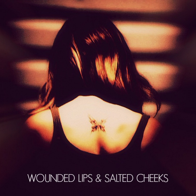 wounded lips & salted cheeks