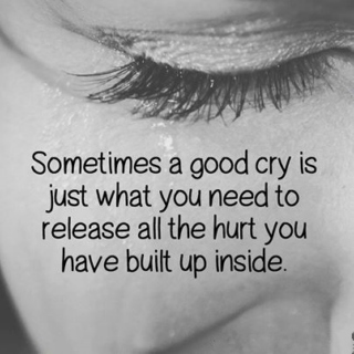 When crying is all I can do...
