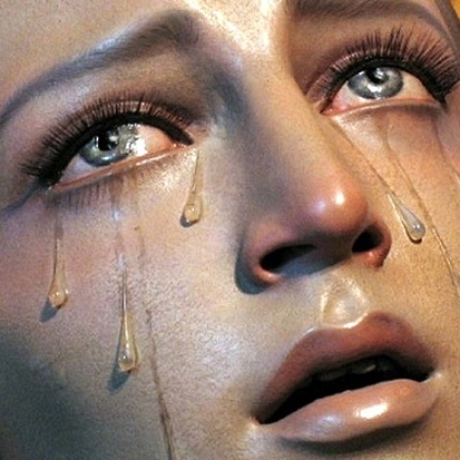 mary's crying for us