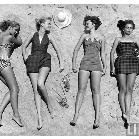 The evolution of swimsuits