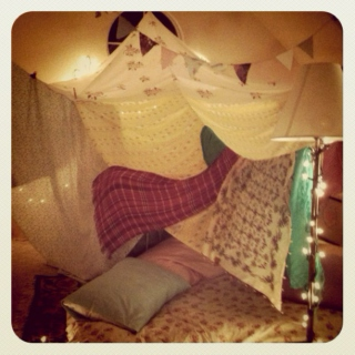 Fort Building, soft singing & cuddling
