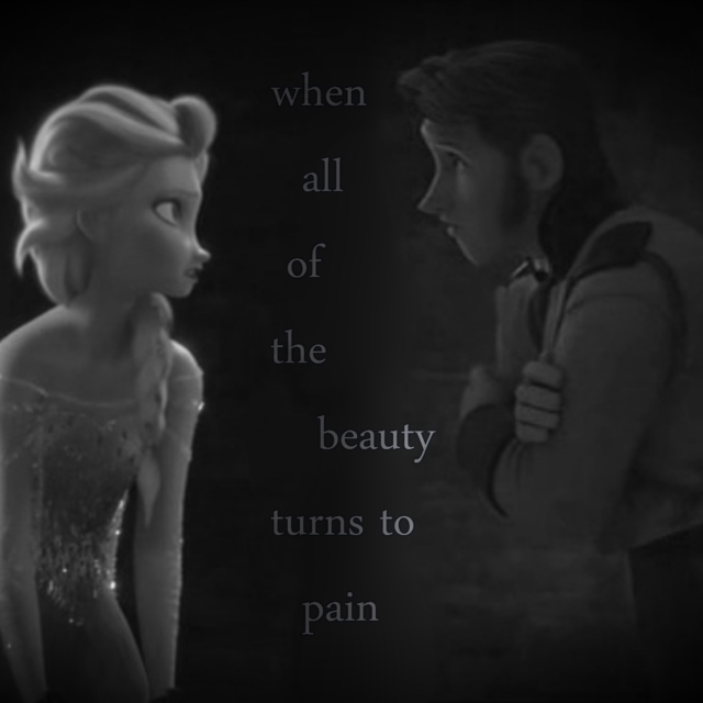 When all of the beauty turns to pain