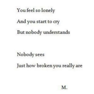 ☹here's to the lonely days ☹