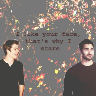 I like your face, that's why I stare.