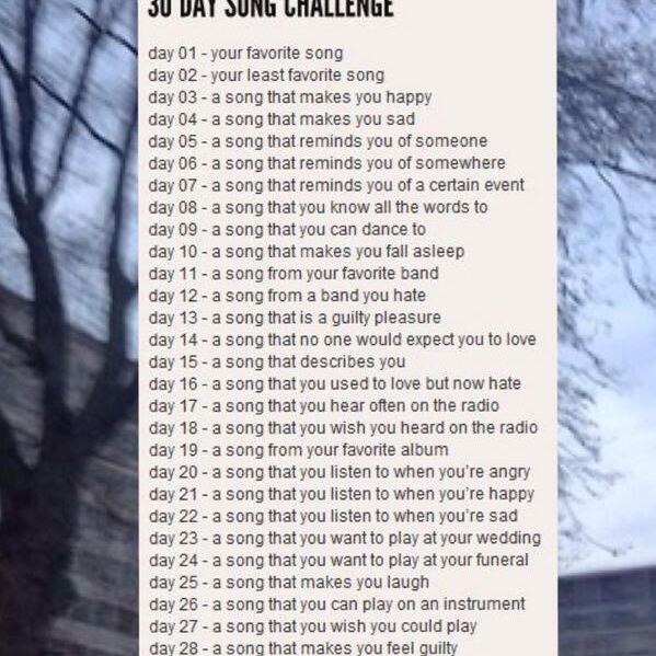my thirty day song challenge *:・゚✧*:・゚✧