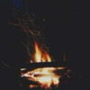 by the campfire //