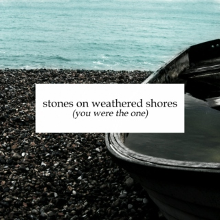 stones on weathered shores