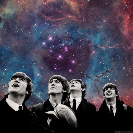 The beatles in the sky with dollars