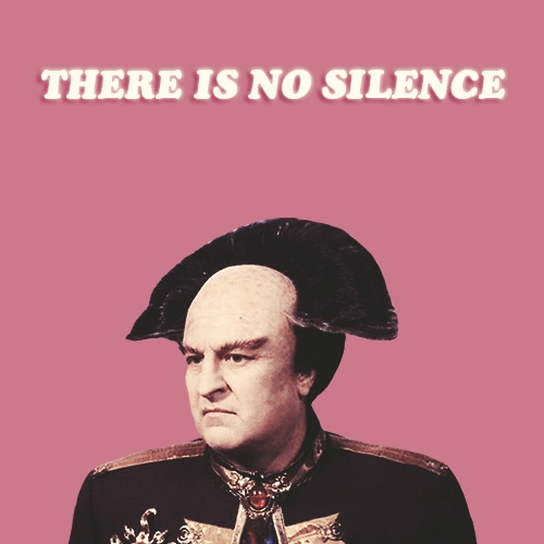 there is no silence