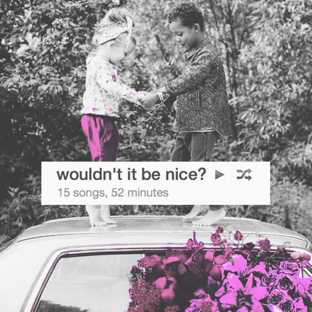wouldn't it be nice?