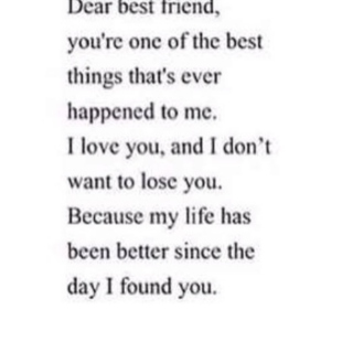To my best friend.