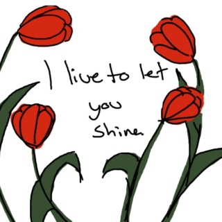 I live to let you shine.