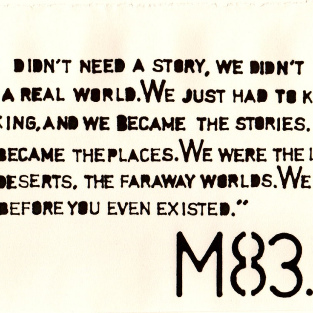 We didn't Need a Story.