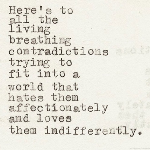 mess of contradictions