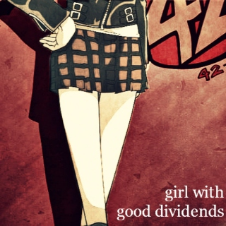 girl with good dividends