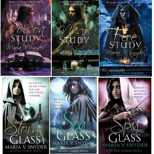 Poison Study series, Scent of Magic series, and Storm Glass series