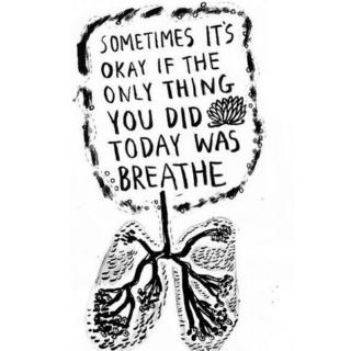 Breathe in, exhale.
