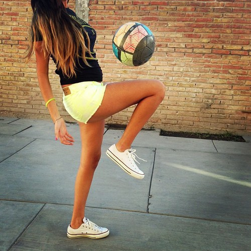 Kick it (play a little soccer)