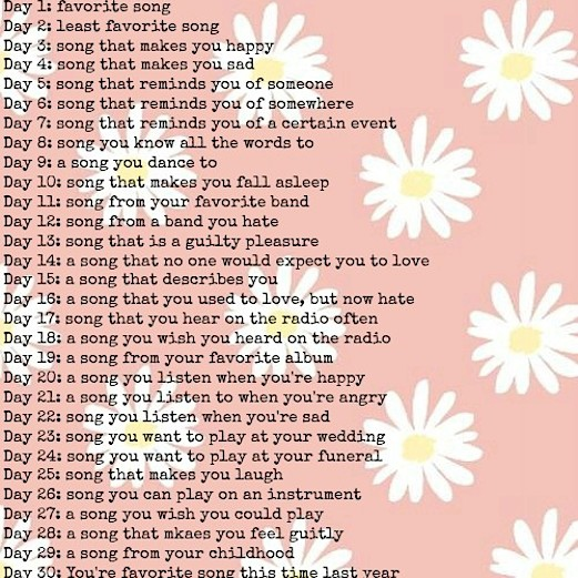 thirty day song challenge :-)