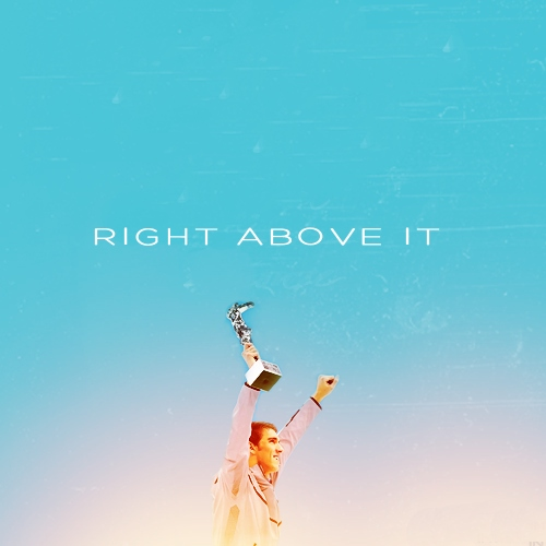 right above it | michael phelps