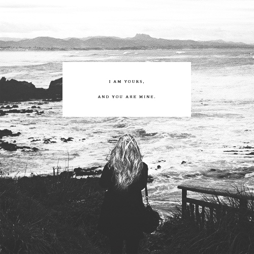 we fell in love, right by the ocean