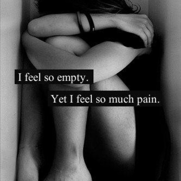 I wish I couldn't feel a thing