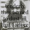tenderly they turned to dust all that I adore