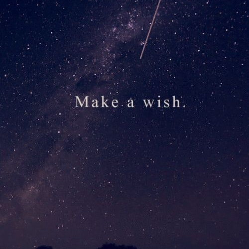 Walking on a dream while making wishes.