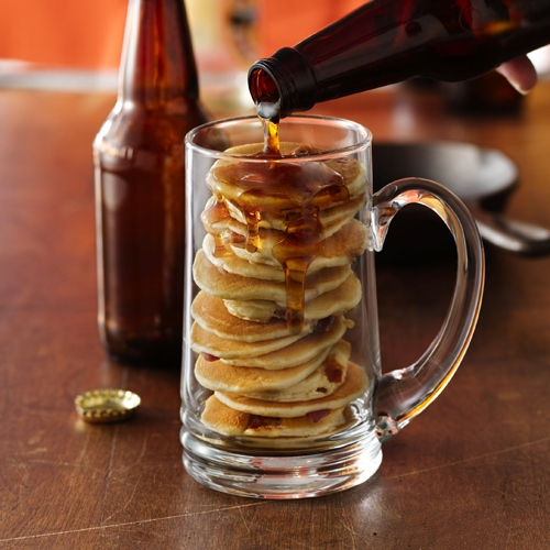 beer and pancakes