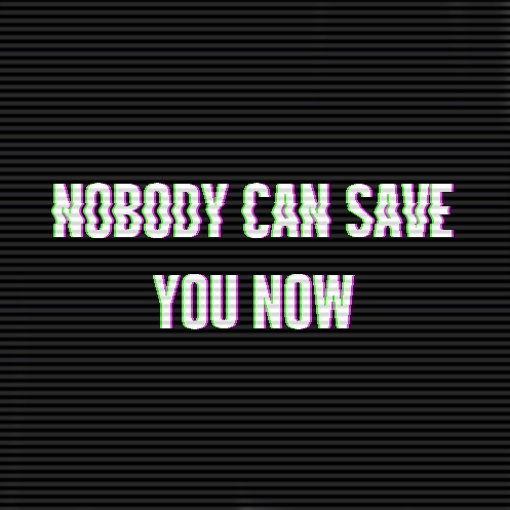 NOBODY CAN SAVE YOU NOW