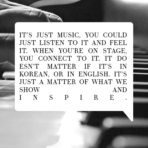 """Music has no language barriers."""