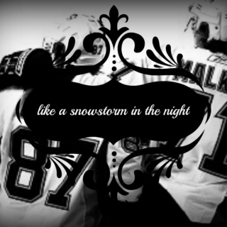 like a snowstorm in the night