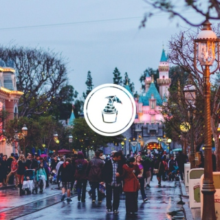* rainy day at disneyland