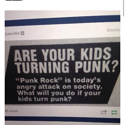 Punk rock is good for you, Billy