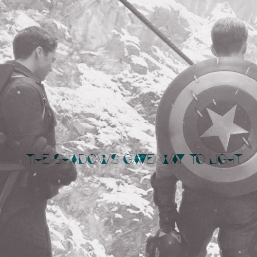 the shadows gave way to light - a bucky/steve mix