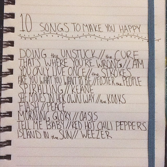 10 songs to make you happy