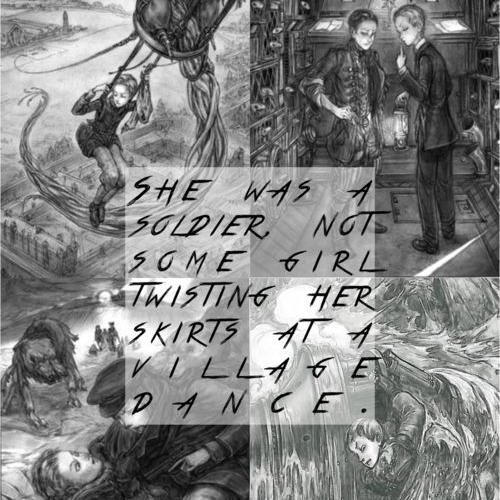 she was a solider,