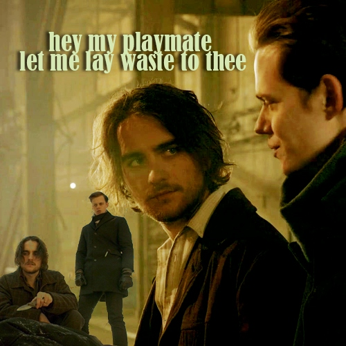 let me lay waste to thee - Peter/Roman