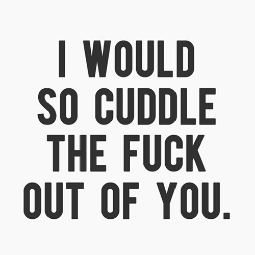 come cuddle with me