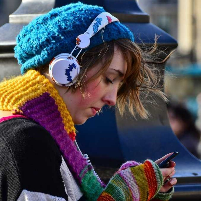 When I go out with my headphones on